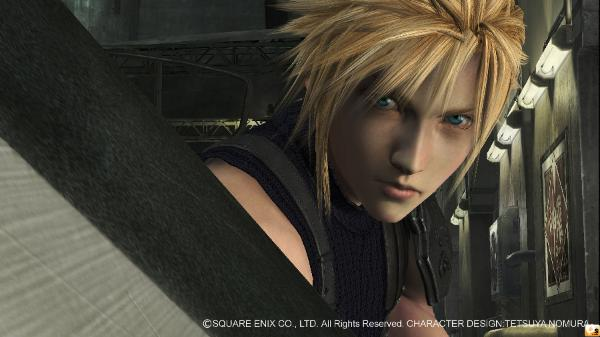 Cloud Strife in the FFVII tech demo for PS3.